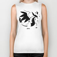 charizard Biker Tanks featuring Charizard Mega X by Ruo7in