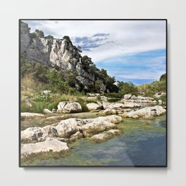 Gardon River in South of France in Summer Time Metal Print