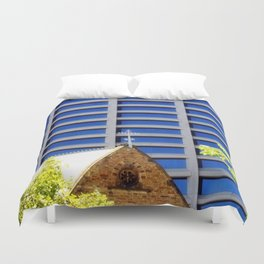 Blessing the Skyscrapers Duvet Cover