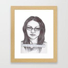 A Dishwasher Kind of Gal Framed Art Print