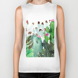 A Prickly Bunch III Biker Tank