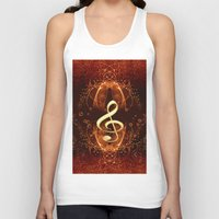 decorative Tank Tops featuring Decorative clef by nicky2342