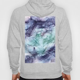 Growth- Abstract Botanical Fluid Art Painting Hoody