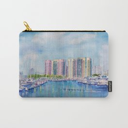 Aqua Towers and Marina in Long Beach Carry-All Pouch