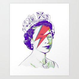 Queen Elizabeth / Aladdin Sane Art Print