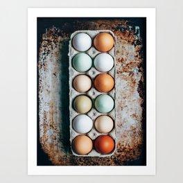 Farm Eggs Art Print