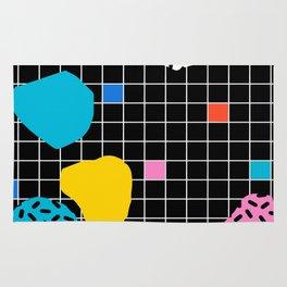 Couch Potato - memphis retro grid minimal trendy 80s throwback retro vibes 1980's style Rug