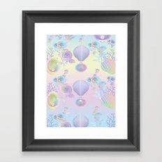 Seashell Wallpaper Framed Art Print