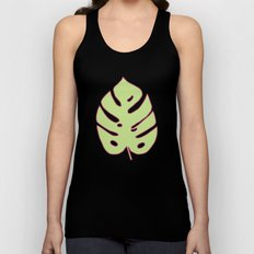 Green Monstera Leaves Unique Pattern Unisex Tank Top