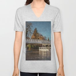 The Toll Bridge At Whitchurch-on-Thames Unisex V-Neck