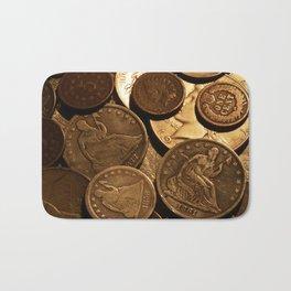 Cool Old Coins Bath Mat