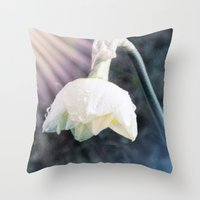 the shining Throw Pillows featuring Shining Light by Lynn Bolt