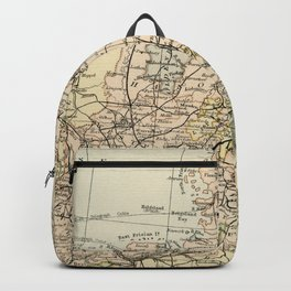 Old and Vintage Map of Germany Outline Backpack