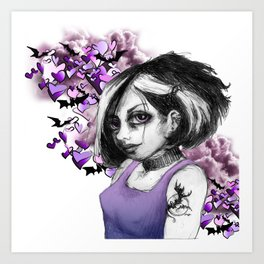 Z imagination The Goth Art Print
