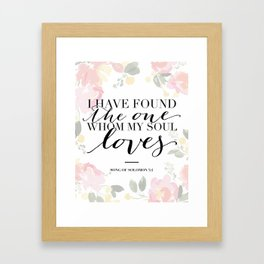 Song of Solomon 3:4 Framed Art Print