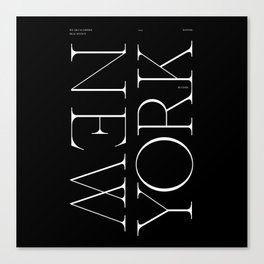 NYC Typography Canvas Print