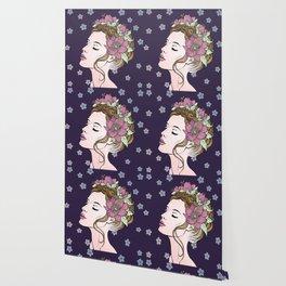 Flower Crown Girl Wallpaper