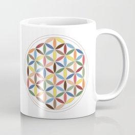 Flower of Life Retro Colors Coffee Mug