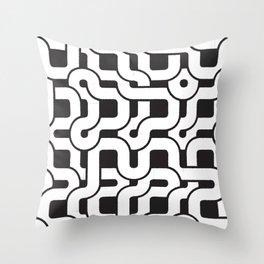 Orion (White on Black) Throw Pillow