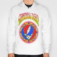 grateful dead Hoodies featuring Grateful Dead #8 Optical Illusion Psychedelic Design by CAP Artwork & Design