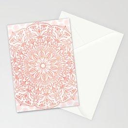 Coral Nature Mandala Stationery Cards