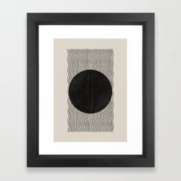 Woodblock Paper Art Framed Art Print