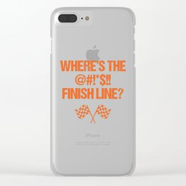 Where's The Finish Line? Bike National Trails Day Bike Trail design Clear iPhone Case