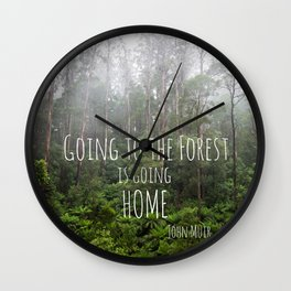 Going to the Forest Wall Clock