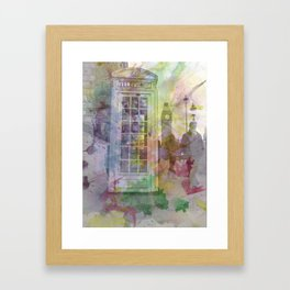 Big Ben and Telephone Booth  Framed Art Print