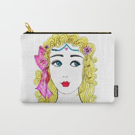Girl with Blue Eyes Carry-All Pouch