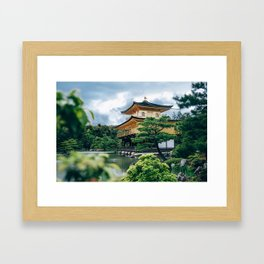 THe golden temple Framed Art Print
