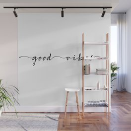good vibes ink lettering Wall Mural