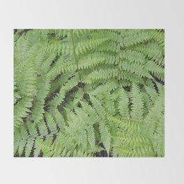 Ferns Throw Blanket