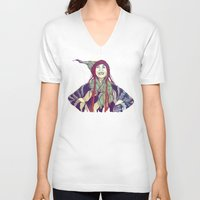 anna V-neck T-shirts featuring AnnA by Andon Georgiev