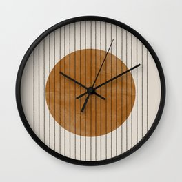 Gold Moon Wall Clock