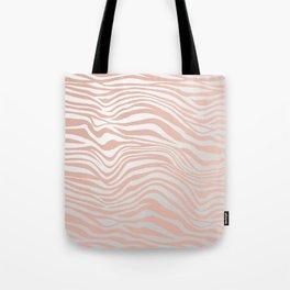 Rose Gold Tiger Stripes Tote Bag