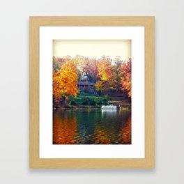 House on the Lake Framed Art Print