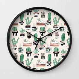 Cacti, Coffee and Cake Wall Clock