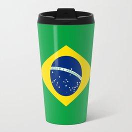 Brazil Flag Graphic Design Travel Mug