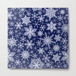 Magic Winter Snowflakes Metal Print