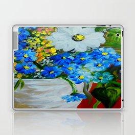 Flowers in a White Vase Laptop & iPad Skin