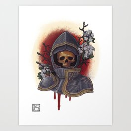 Chivalry in Thorns Art Print