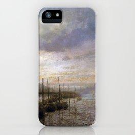 Hermann Herzog Venetian Canal iPhone Case