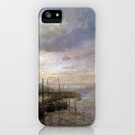 Hermann Herzog Venetian Canal iPhone Case