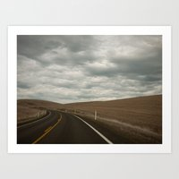 The Road to the Ranch Art Print