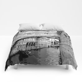The Bridge of Sighs in Venice Italy Travel Comforters