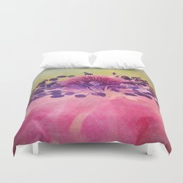 Flat Flower Cartoon Duvet Cover