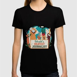 Worlds Okayest Journalist Journalism Writer Gift T-shirt