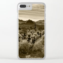 Teddy Bear Cactus Clear iPhone Case