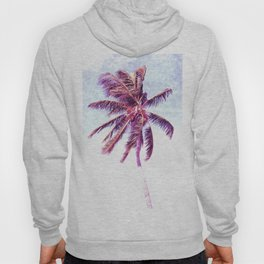 Palm Tree Violet Illustration Hoody